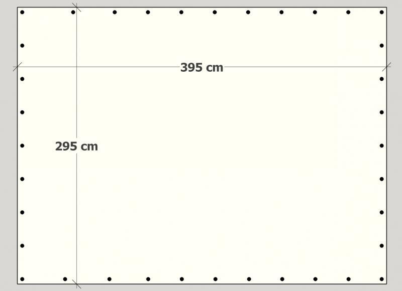 300 cm X 400 cm